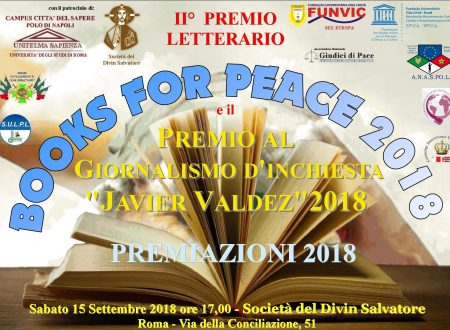"AWARD ""BOOKS FOR PEACE"", ""J. VALDEZ"", ""FUNVIC SPORT"" 2018"