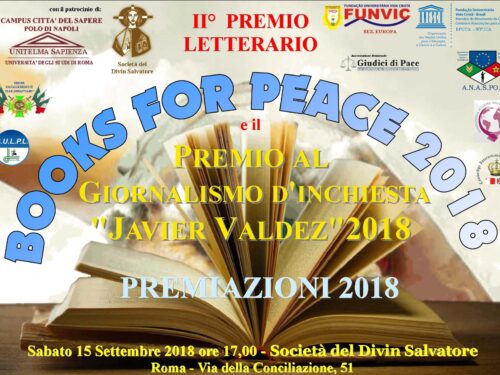 "AWARD ""BOOKS FOR PEACE"", ""J. VALDEZ"", ""FUNVIC SPORT"" 2018"