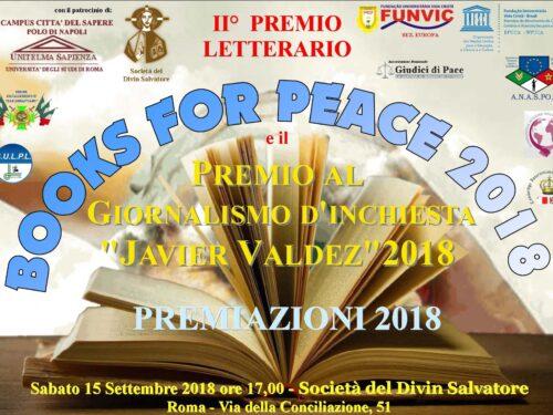 """PREMIAZIONE """"BOOKS FOR PEACE"""", """"J. VALDEZ"""", """"FUNVIC SPORT"""" 2018"""