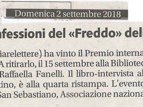 Premio J. Valdez 2018 – Rassegna Stampa