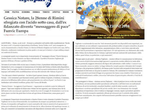 Premiazioni 2018 J.Valdez, Books for peace, Funvic letteratura sportiva- Rassegna Stampa