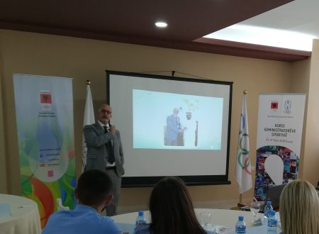 FUNVIC Europa presents the IRC project on Muscular Injury Prevention in sport at the National Olympic Committee of Albania