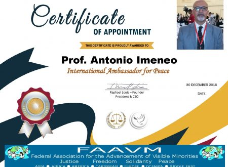 International Ambassador for Peace FAAVM