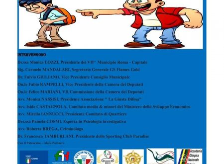 FUNVIC EUROPA against bullying with GS FLAMES GOLD and MUNICIPALITY of ROME Municipio VII