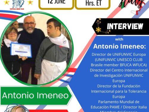 IL PROF. ANTONIO IMENEO INTERVISTATO SU VIRTUAL BOOK FAIR USA